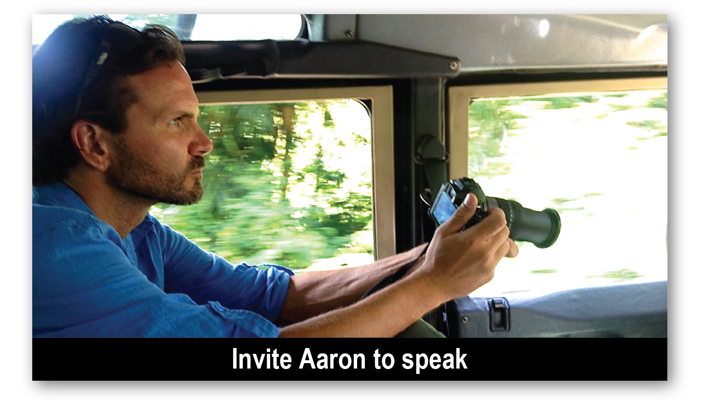 Invite Aaron to Talk