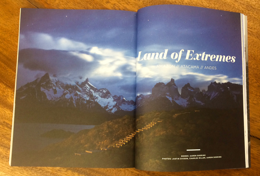 Doering's Earthducation South America article featured in Sidetracked Magazine