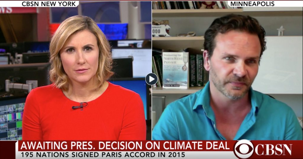CBS News: Arctic Explorer's Perspective on Climate Deal