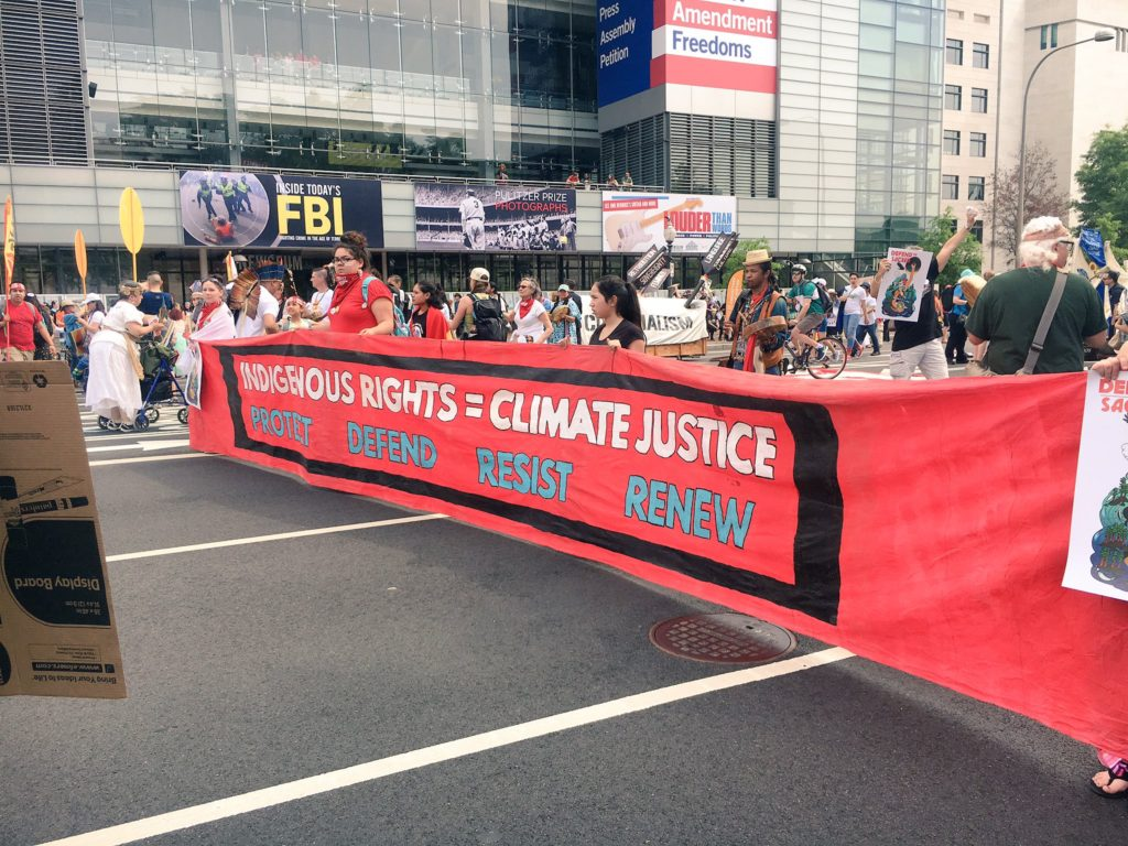 Doering participates in People's Climate March in Washington, DC