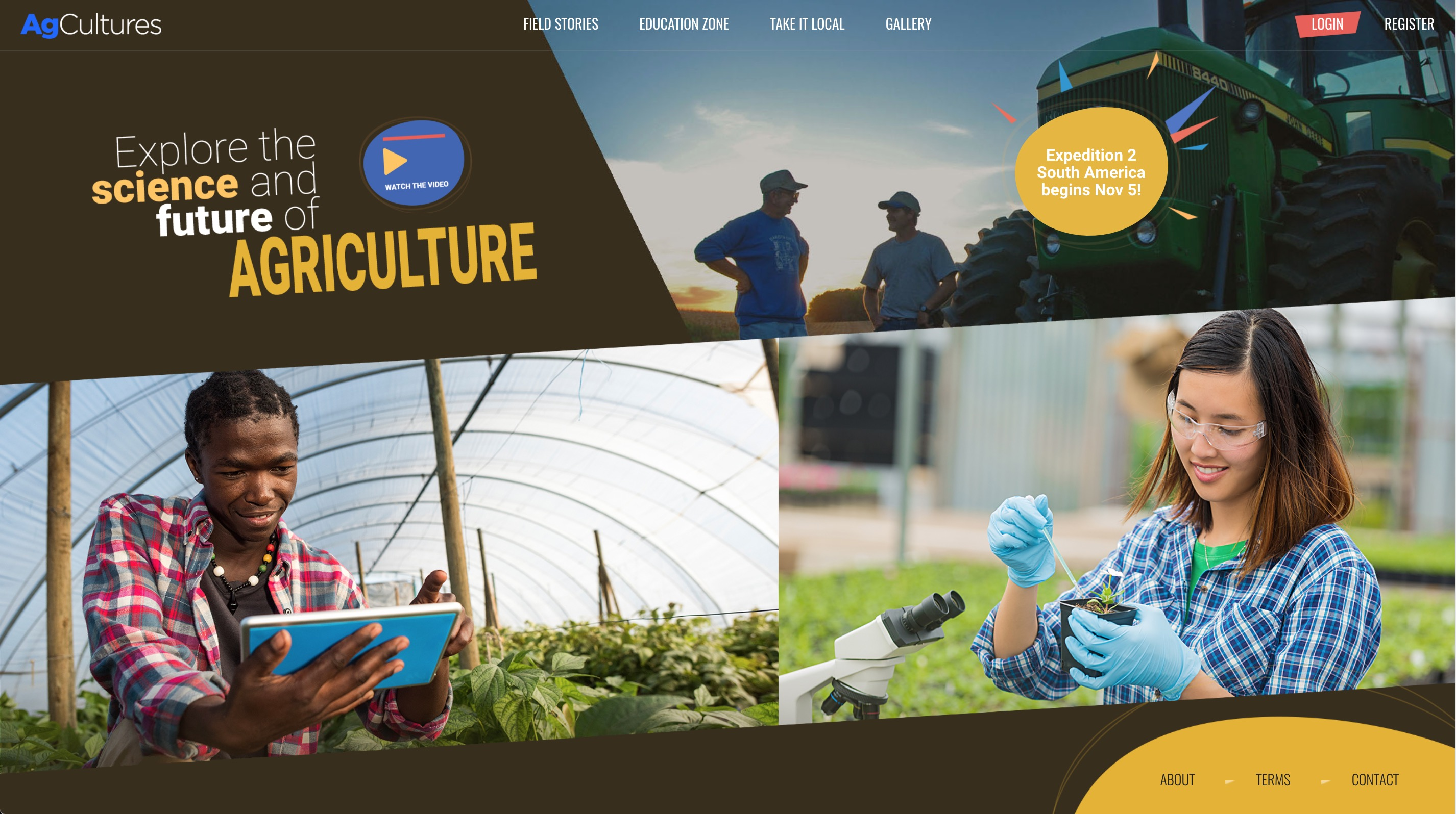 AgCultures homepage
